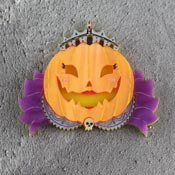 Pumpkin Queen Brooch By Gory Dorky