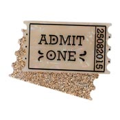 Admit One Ticket Brooch By Erstwilder