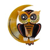 A Moon With A View Owl Brooch By Erstwilder