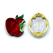 Magic Mirror And Poisoned Apple Mini Brooch Set By Tantalising Treasures
