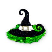 Aquaphobic Melted Wicked Witch Brooch By Tantalising Treasures