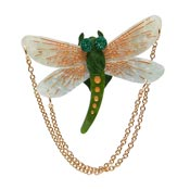 As The Dragon Flies Dragonfly Brooch By Erstwilder