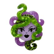 Avert Thy Gaze Medusa Brooch By Erstwilder