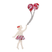 Bev And The Flying Balloon Brooch By Erstwilder Fan Favorite