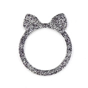 Black Glitter Cat Ears Resin Ring