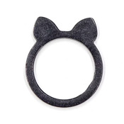 Black Pearl Cat Ears Resin Ring