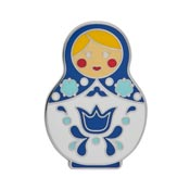 Blue Matryoshka Memories Enamel Pin By Erstwilder - Large - SOLD OUT