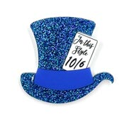 Blue Mad Hatters Hat Brooch By Tantalising Treasures