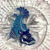 Blue Shachihoko Brooch By Gory Dorky