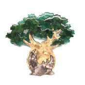 Bulbous Baobab Tree Brooch By Erstwilder