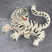 Byakko White Tiger Brooch By Gory Dorky