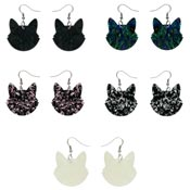 Cat Head Drop Earrings By Erstwilder - Pick Your Color!