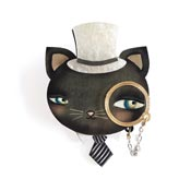 Cat And Monocle Brooch By Laliblue