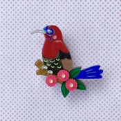 Celia The Crimson Sunbird Brooch By She Loves Blooms