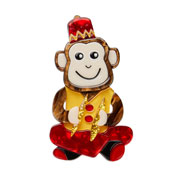 Charlie Chimp Brooch By Erstwilder