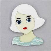China Doll Brooch By Tantalising Treasures