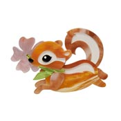 Chocolate The Chipmunk Brooch By Erstwilder