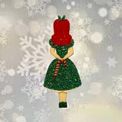 Christmas Candy Cane Alice Brooch By Tantalising Treasures - Last one!