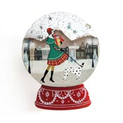 Christmas Shopping Snow Globe Brooch By Laliblue