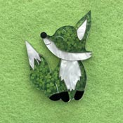 Clover The Fox Brooch By Wintersheart - SOLD OUT