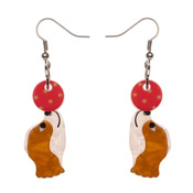 Coco The Clever Cavalier Earrings By Erstwilder