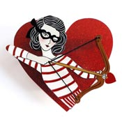 Cupid Girl Brooch By Laliblue