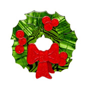 Deck The Halls Wreath Brooch By Erstwilder