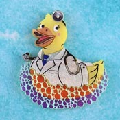 Doctor Rubber Ducky Brooch By Gory Dorky