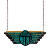 Ancient Egyptian Revival Scarab Necklace By Erstwilder