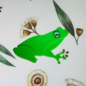Fabio The Frog Brooch By Tantalising Treasures