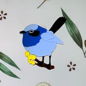 Farah The Fairy Wren Brooch By Tantalising Treasures