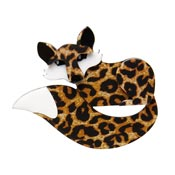Faustine Fox Brooch By Erstwilder Fan Favorite 2019 Leopard Print