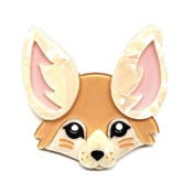 Finnicky Fennec Fox Brooch By Erstwilder