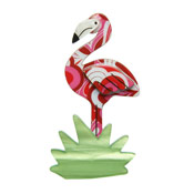 Flamboyant Flamingo Funk Flamingo Brooch By Erstwilder