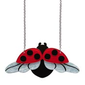 Fly Away Home Ladybug Necklace By Erstwilder