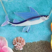Flying Fish Necklace By Gory Dorky