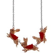 Flopsy Mopsy And Cottontail Bunny Necklace By Erstwilder