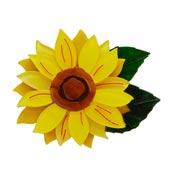 Follow The Sun Sunflower Brooch By Erstwilder