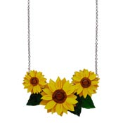 Follow The Sun Sunflower Necklace By Erstwilder
