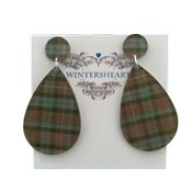 Fraser Tartan Earrings By Wintersheart