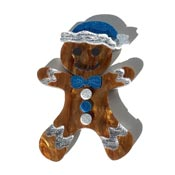 Gary The Gingerbread Man Pin By Tantalising Treasures - Last One