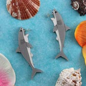 Shark Earrings By Gory Dorky