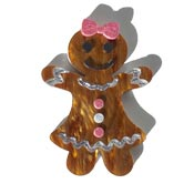Gertrude The Gingerbread Lady Pin By Tantalising Treasures