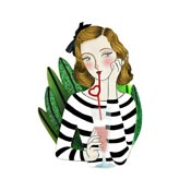 Girl With Smoothie Brooch By Laliblue