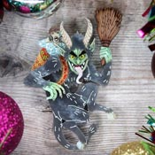 Krampus Brooch By Gory Dorky - Coming Soon!