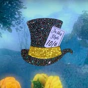 Gray Holo Mad Hatters Hat Brooch By Tantalising Treasures