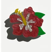 Happy Hibiscus Flower Brooch By Tantalising Treasures