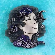 Head In The Clouds Brooch Night Sky By Gory Dorky
