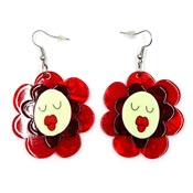 Helen's Humming Flowers Earrings By Erstwilder