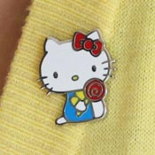 Hello Kitty Lollipop Enamel Pin By Erstwilder